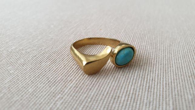 Piękny pierścionek z turkusem