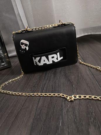 Nowa czarna torebka Karl Lagerfeld