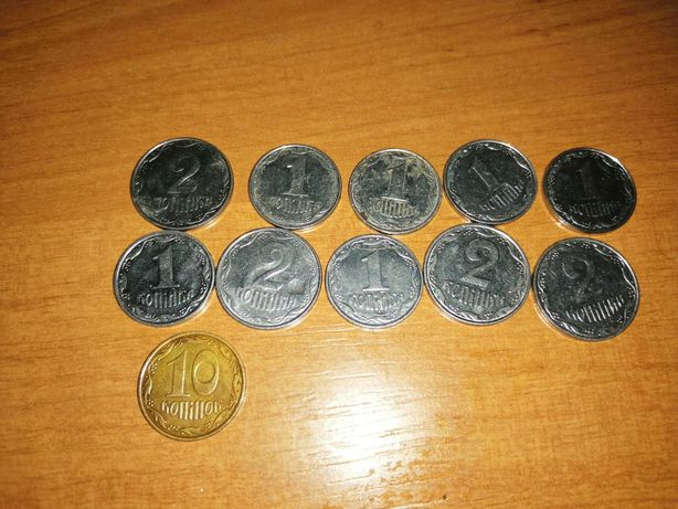 Монеты 61 и 86 СССР, России, Украины