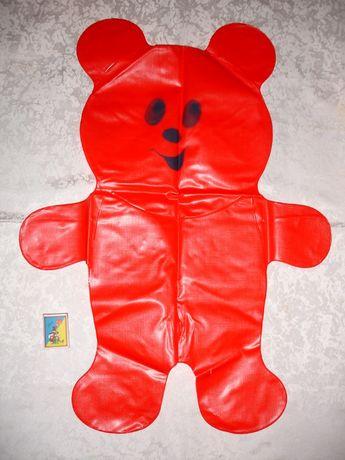 """Игрушка/іграшка """"Мішка"""" надувна, НОВА, червона; 51х67 см; 1988 р.в."""