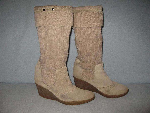 Італійські теплі шкіряні чоботи, розмір 40 (стєлька 26 см), 100 грн.