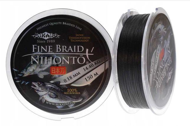 Plecionka wędkarska Mikado Nihonto Fine Braid 0,14mm 150m 9,70kg black