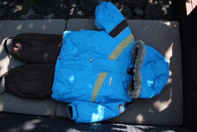 продам зим комбинезон+куртка Lenne, р 74 полномерный, 700 грн+ шапочк