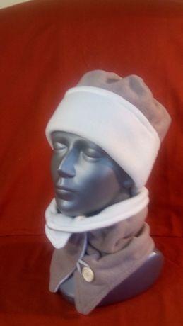Komplet: czapka i szalik z polaru.