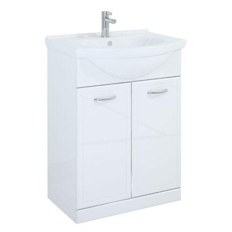 Szafka łazienkowa Aqua z umywalką ceramiczną plus półsłupek 35, ELITA