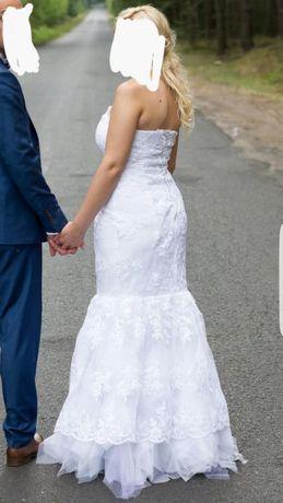 Suknia ślubna z koronki :)