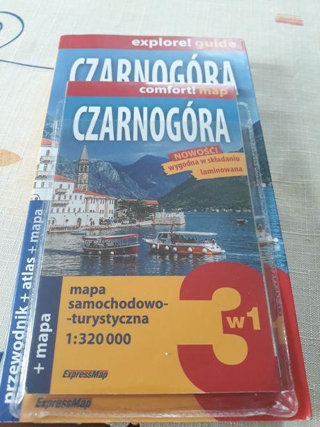 Przewodnik Czarnogóra 3w1 i mapy Węgier Chorwacji Bośni i Czarnogóry