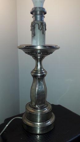 Piękna  posrebrzana lampa stara duża ciężka