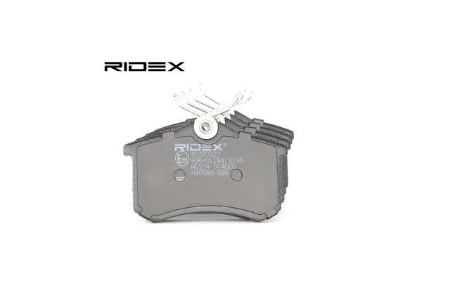 RIDEX Zestaw klocków hamulcowych, hamulce tarczowe 402B0029