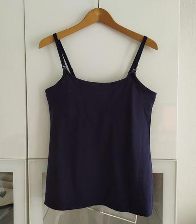 Bluzka do karmienia L H&M mama granatowa 40 koszulka top ubrania