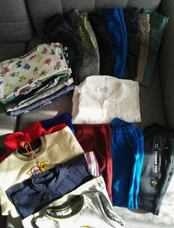 mega paka dla chłopaka rozm 122 spodnie bluzki ciuszki zestaw