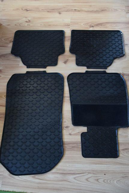 BMW E90 E91 E92 oryginalne czarne dywaniki gumowe komplet - przód, tył