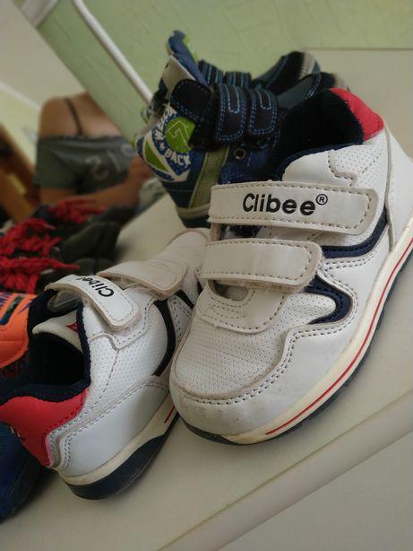 Кроссовки Clibee белые кросікви кожа