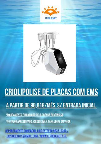 Criolipolise 360 de placas com eletroestimulação + Curso DGERT