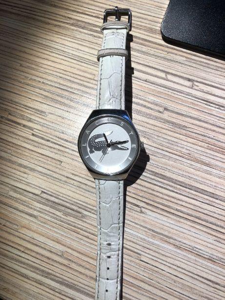 Biały zegarek LACOSTE damski