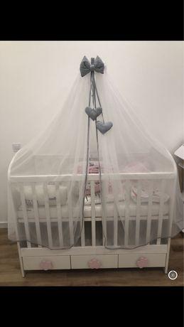 Rede mosquiteira com suporte para berço/cama bebé