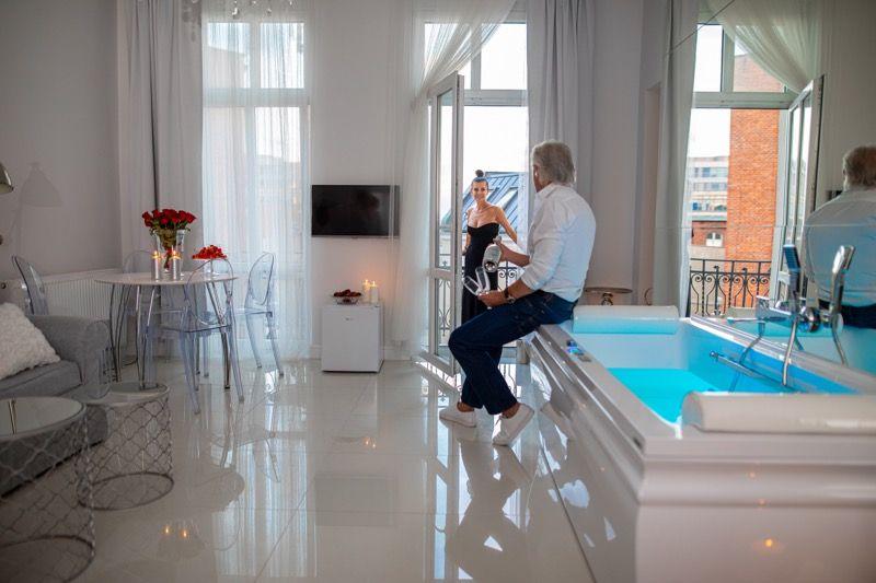 Romantyczny apartament z jacuzzi i sauną Poznań Stary Rynek,zaręczyny