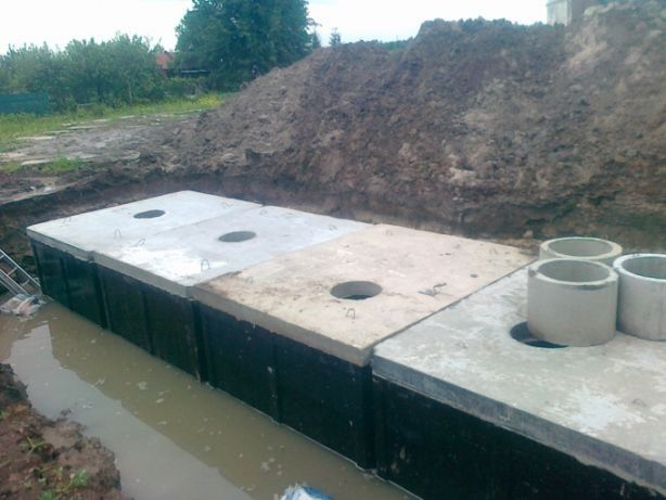 Szamba betonowe,Zbiorniki na szambo. Betonowy zbiornik na deszczówkę