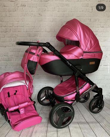 Коляска для девочки розовая