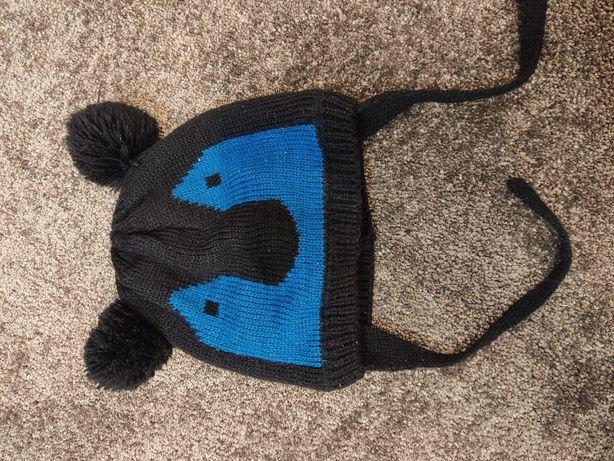 Czapeczka niemowlęca zimowa z pomponami - miś. 62/74