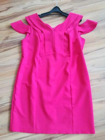 Sukienka Weronika róż fuksja rozmiar 50
