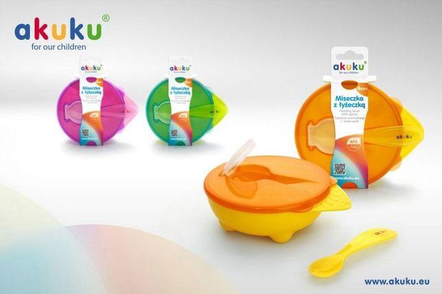 "Тарiлка-контейнер із ложкою ""АKUKU'' А 0255"