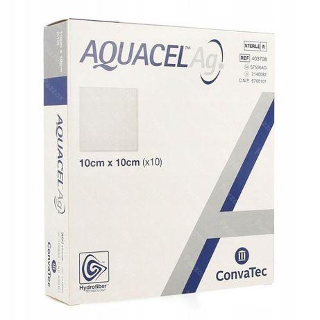 Aquacel Ag, opatr.hydrof. ze srebrem jonowym, 10 cmx10cm, 1 szt.