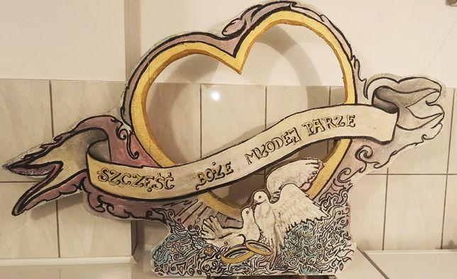 Ozdoba ślubna ręcznie malowana