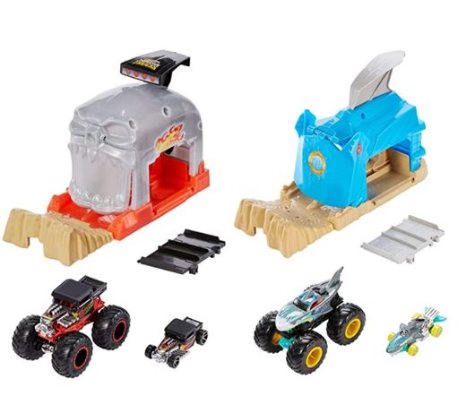 Hot Wheels Monster Truck Pit & Launch Акула Монстер Трак GKY02 GKY03