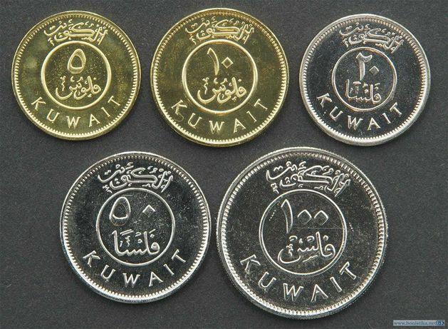 Набор монет 5, 10, 20, 50, 100 филсов 2012 Кувейт
