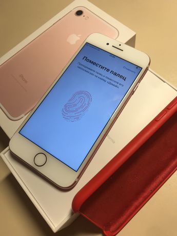 Iphone / айфон 7 128gb rose gold neverlock, отличный, еще на гарантии