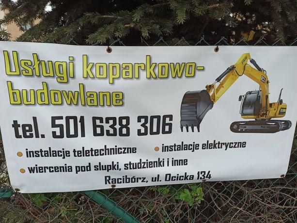Usługi minikoparka - instalacje elektryczne, teletechniczne i gazowe