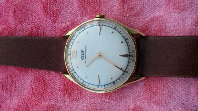 Złoty TISSOT zegarek 14k Duży i piękny w stanie bdb. 585pr.