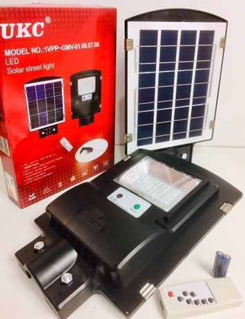 ДАТЧИК! Прожектор LED уличный на солнечной батарее на улицу светильник