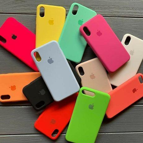 Чохли Silicone Case iPhone,чехол айфон 5,5s,se/6,6s/7,7plus/8+/X,XR/11