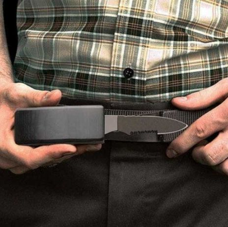 Ремень пояс пряжка- нож Dv-01