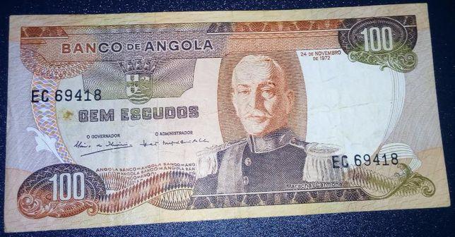 Nota 100$00 Angola