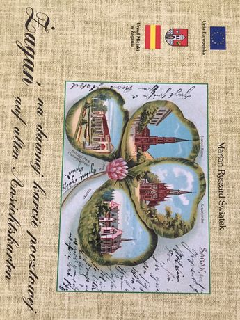 Książka album Żagań na dawnej karcie pocztowej M. Świątek