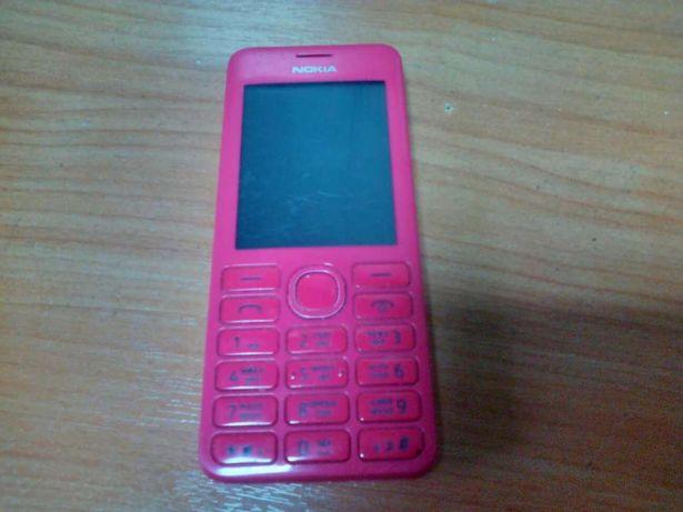 650Мобильный телефон Nokia Asha 206 розовый на 2 SIM-карты