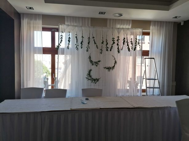 Ścianka ślubna wesele dekoracje