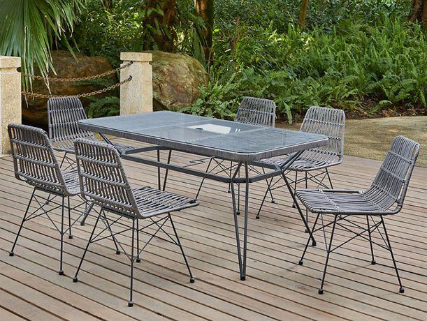 Zestaw mebli ogrodowych SIMPLE Stół + 6 krzeseł