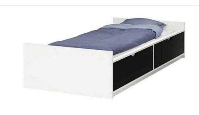 Cama solteiro com gavetas Ikea