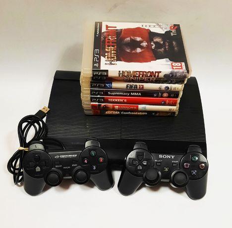 Konsola PS3 + 2x Pad + gry