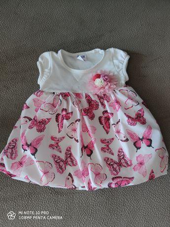 Нарядное летнее Платье для девочки 0-3мес