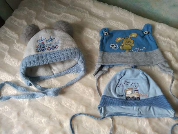 Шапка шапочка шапуля детская на мальчика 0-6 месяцев
