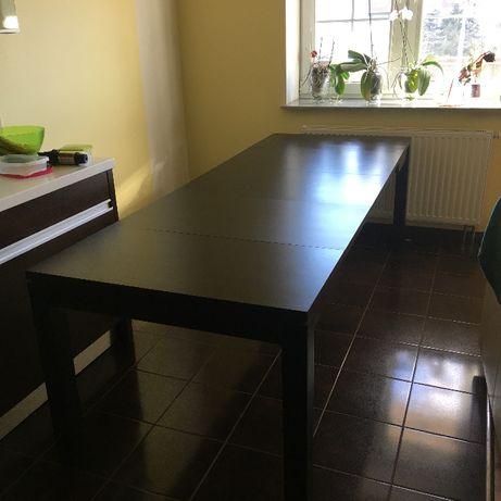 Elegancki rozkładany stół drewniany w kolorze VENGE
