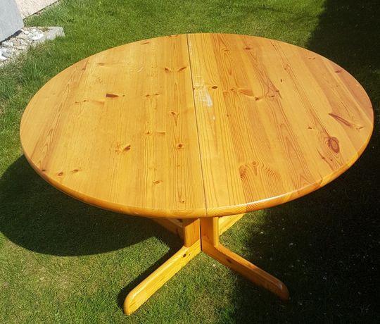 Okrągły stół sosnowy
