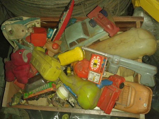 Zabawki PRL lata 1970-s cały komplet_kilkanaście sztuk_w podanej cenie