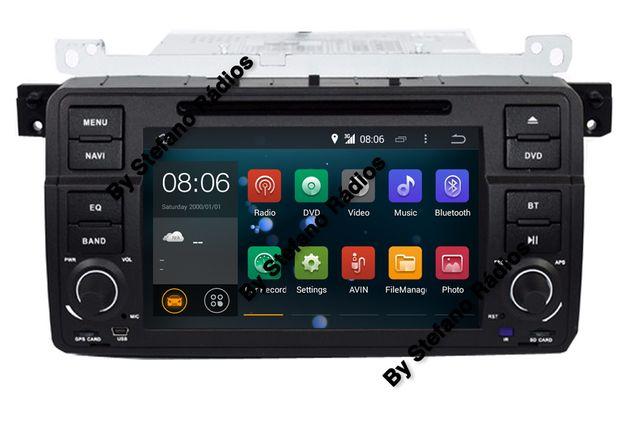 Rádio GPS WIFI E46 BMW E46 — ANDROID 10 - Série 3 1998 a 2005