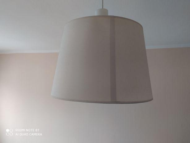 Lampa Ikea biała srednica 40 cm